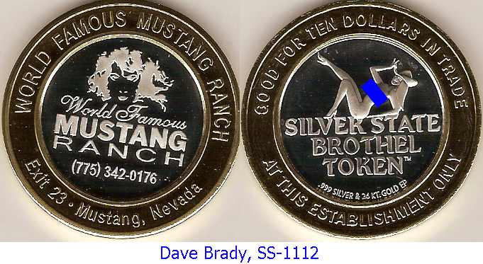Silver Strikers Club Silver State Brothel Token Page 1