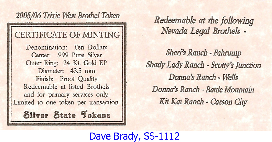 catalogs tokens nevada silver state brothel vlnv token page